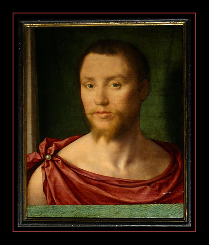 Portrait dhomme à lantique , par Felix CHRETIEN