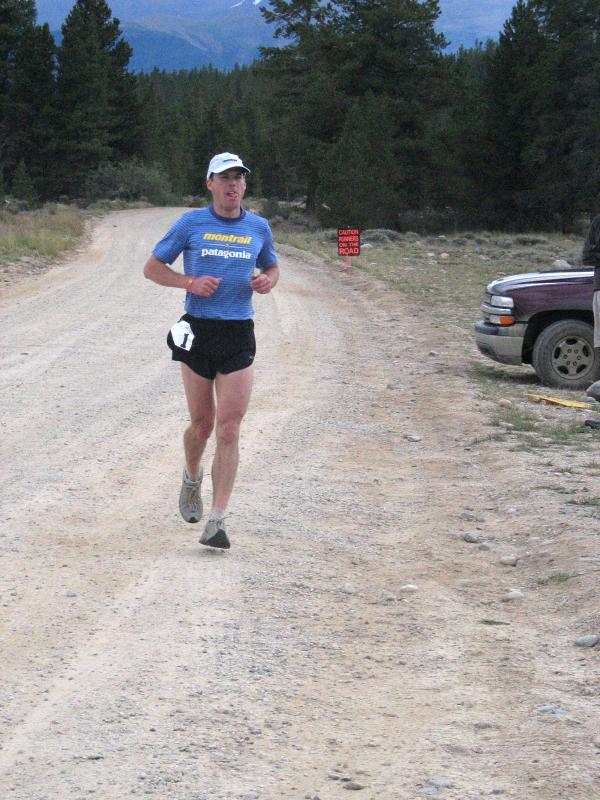 Paul comes through Tree Line in 1st place