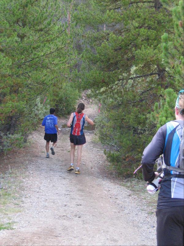 Scott heads down the trail