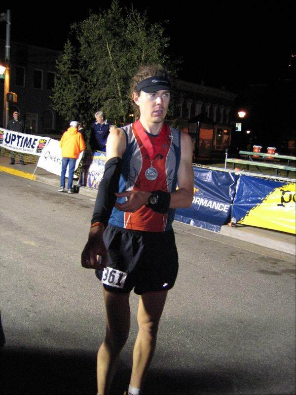 Scott after the finish