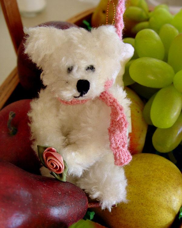 Stuffed Bear and Fake Fruit