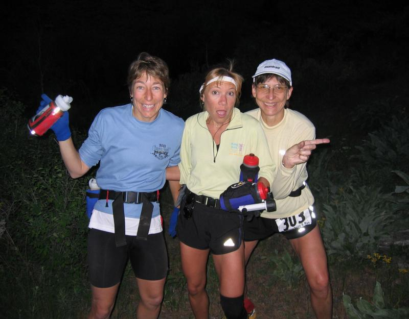 Stephanie, Lisa, & Gunhild havent a clue where they are or where theyre headed....Good thing Gunhild has her Garmin on!