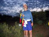 Mark Bodamer scans the horizon with his single LED flashlight as he tries to recall the trail from 10 years ago