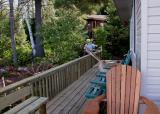 Meanwhile... Paul is putting the finishing touches to the deck...