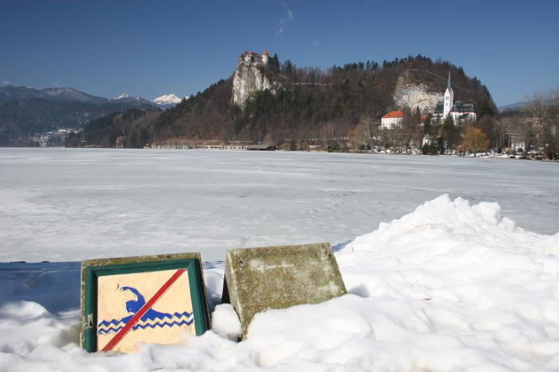no swimming in Lake Bled