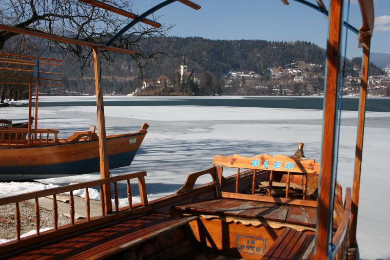 Gondolas to take you to Bled Island