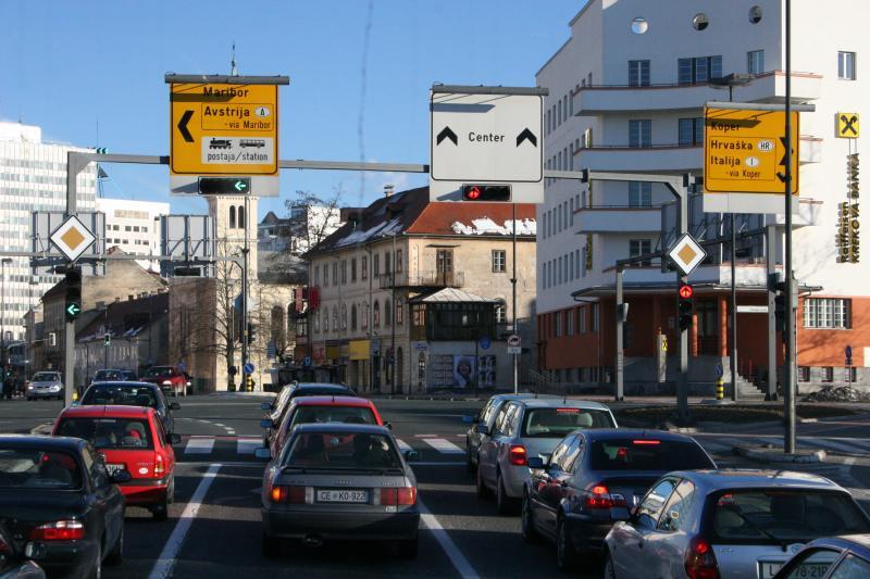 entering Ljubljana