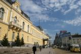 former Tsars Palace on the left now home to National Art Gallery