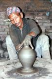 Potter in Bhaktapur's Potters Square