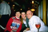 This photo is from Christmas 2002 with my good friends Annette and Tom from the office. Oh and the glass of wine, which was also a good friend too at that party!