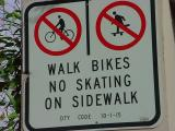 walk - no - on - bikes - skating - sidewalk