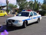 Police at the carshow