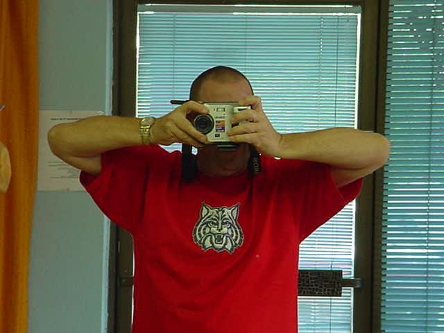 Jeffrey Lewis<br> his U of A Wildcats t-shirt