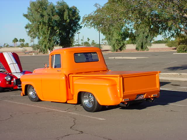 beautiful orange pickup