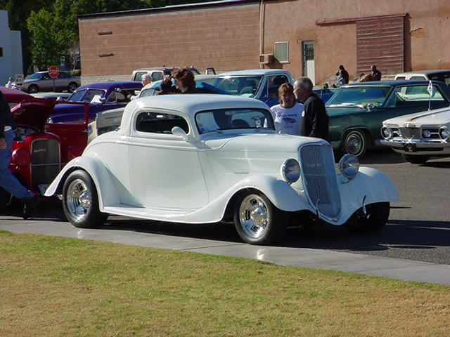 white Ford 3 window