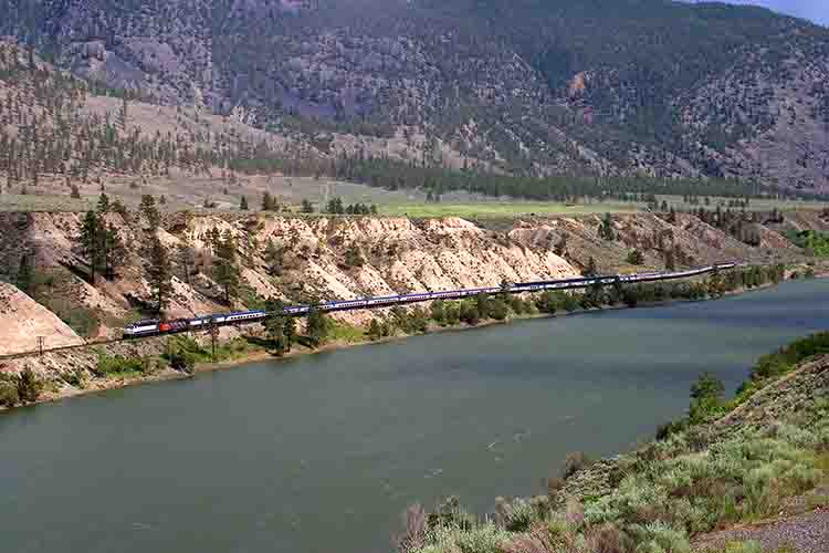 Eastbound Rocky Mountaineer tour train
