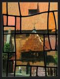 MalborkChateau moyen à travers une vitre colorée