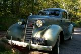 37 Studebaker before restoration (Aluminum tape on front bumpers & Wards paint covering surface rust on fenders)