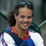 Aboriginal didgeplayer  - nice smile!