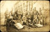 1914 - Schlomo Bernthal with his company in the Austro Hungarian army