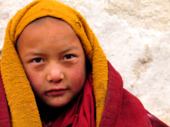 Young monk in Langmusi
