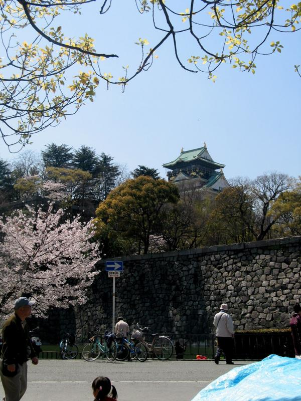 Osaka castle wall