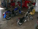 Minibike VS Harley size comparison