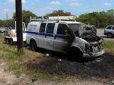This is what happens to a van during re-entry