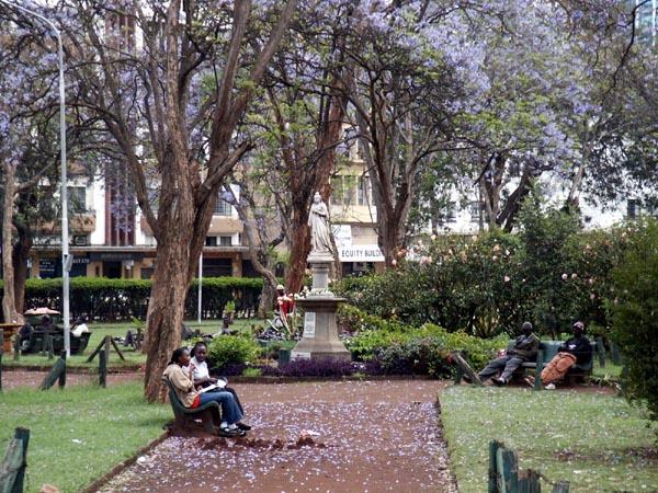Jeevanjee Gardens, Nairobi, with Queen Victoria