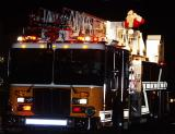The volunteer fire department brings Santa into the neighborhoods to ring in the holiday.