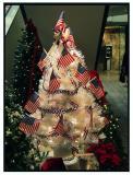Flag Tree in Mall Lobby