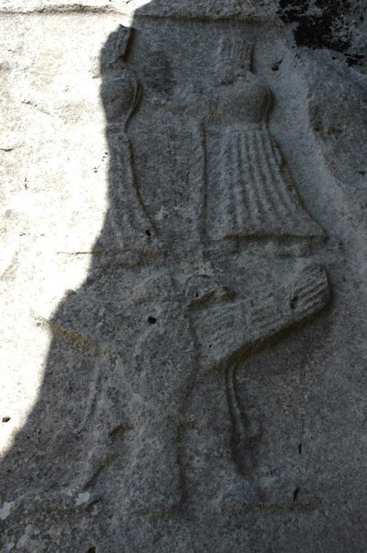 Yazilikaya Twin goddesses and double headed eagle