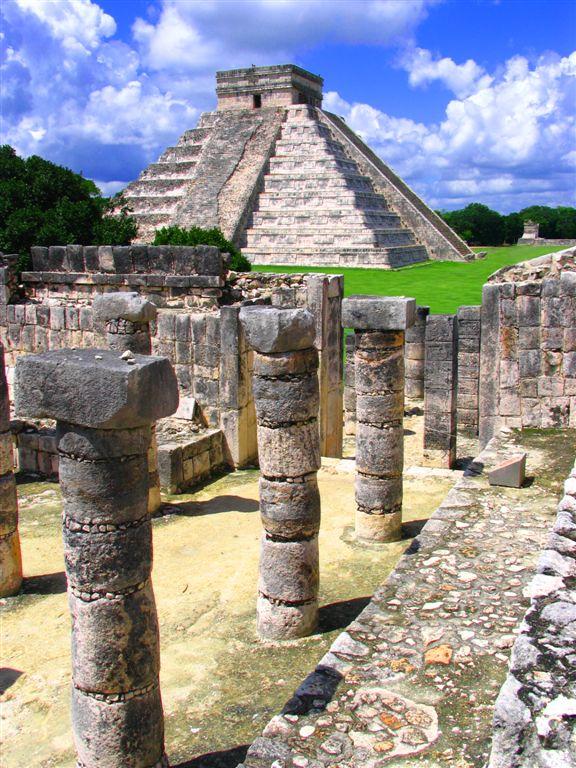El-Castillo from Warriors Temple