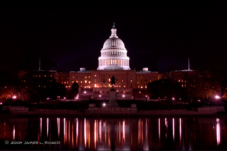 The US Capitol Building (at night)