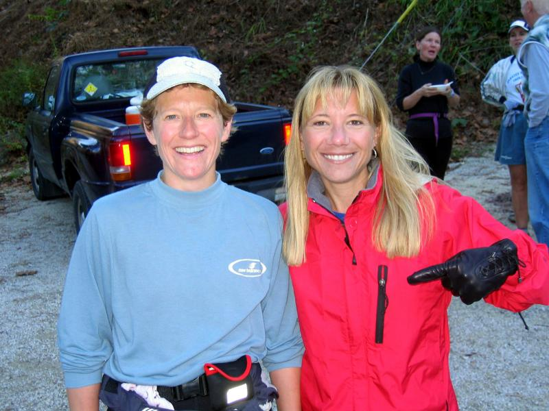 Lisa B & Lisa B.  The other Lisa finished her 40-minus-6-mile birthday run in 8:50.