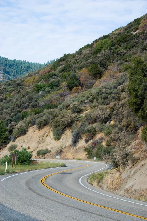 Driving through Kings Canyon