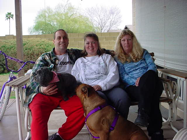 Jeff and Tammy and Sandy <br> Doogie and Gidget too