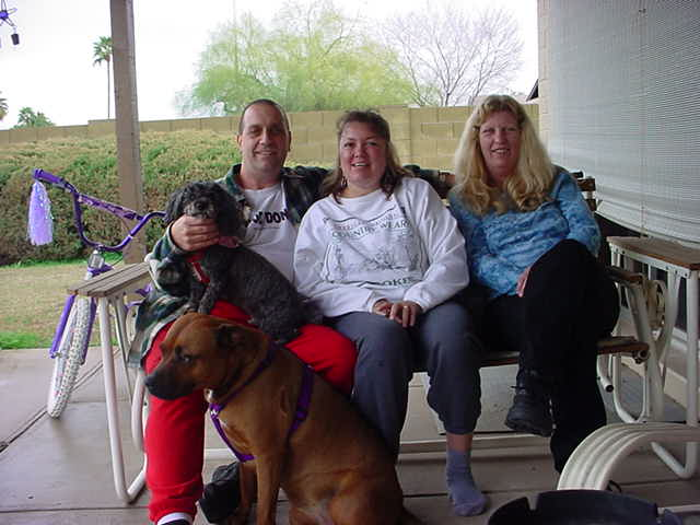 Jeff Tammy Sandra<br> and Doogie and Gidget
