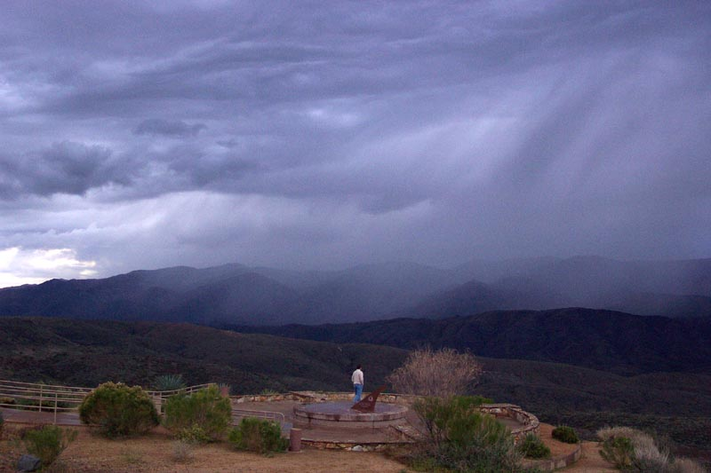 Rain at Sunset Point Rest Stop
