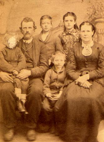 Jackson Sowers Family, ca 1872