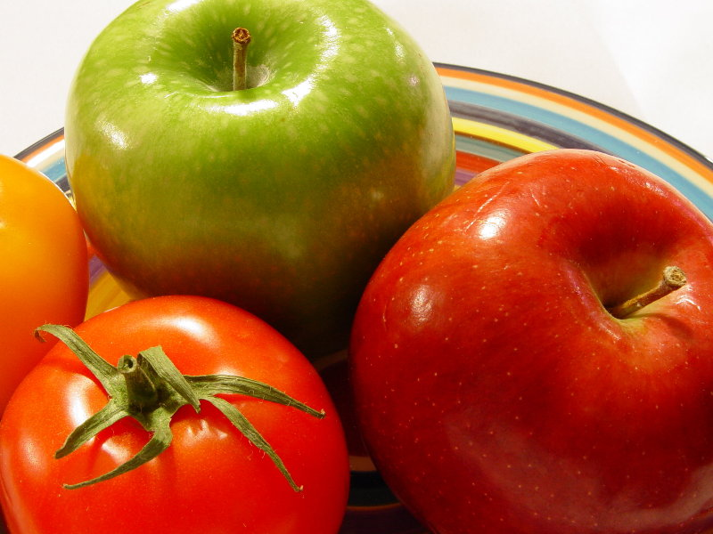 Apples And Tomatoes Photo
