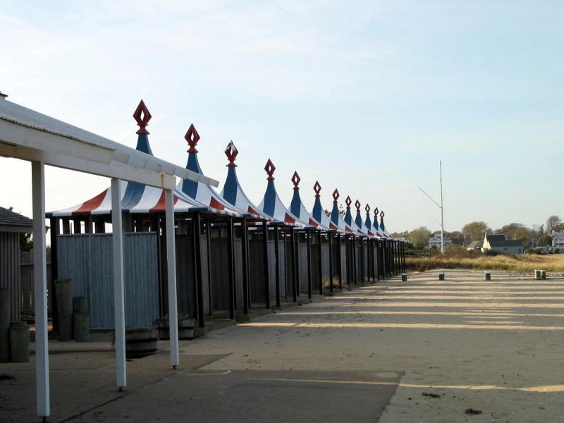 Bathhouses in a row