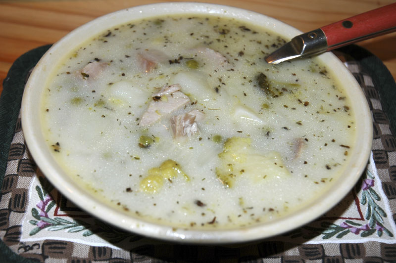 Pork and Idaho Potato Soup by Pocatello Artist Arla Morgan - I baked the pork -  DSC_0087.jpg