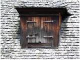old wooden roof and window