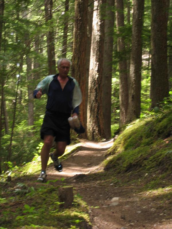 John running down from Ranger Creek