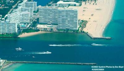 2003 - Port Everglades Inlet landscape aerial stock photo #6050