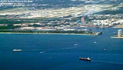 Port Everglades & Ft. Lauderdale-Hollywood Intl Airport airport aerial stock photo #6054