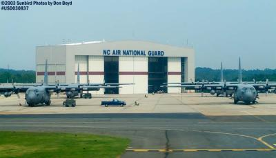 North Carolina Air National Guard C-130s military aviation stock photo #6584