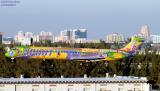 Spirit MD83 N814NK in 10th Anniversary scheme aviation stock photo #2524