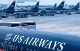 US Airways B737-4B7 N432US, B737-3B7 N385US, A319-112 N716UW and others aviation stock photo #6557